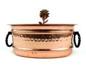 French Vintage Copper Jardiniere//Vintage French Copper Planter/Vintage Copper Planter
