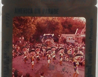 """Vintage 35MM Slides RARE Disneyland """"America on Parade"""" - 5 Slides per order"""