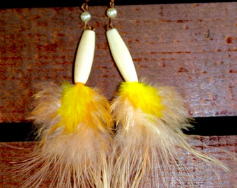 Feather Earrings, One of a Kind, #14