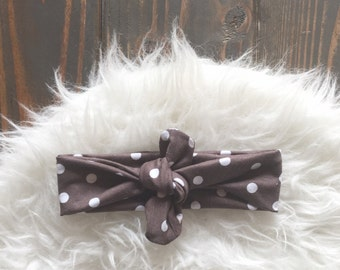 Brown Knot Headband/ Brown Headband/Headband,Turban Headband, Infant Headband, Adult headband