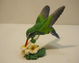 Hummingbird with Floral Decorative Figurine Statue