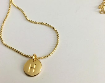 H Initial Personalized Necklace