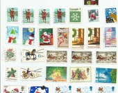 30 Christmas Used Postage Stamps (mix U5)