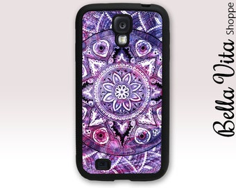 Case for Samsung S4, Case for Samsung Galaxy S4, Purple Mandala Case for S4 1016 SG4