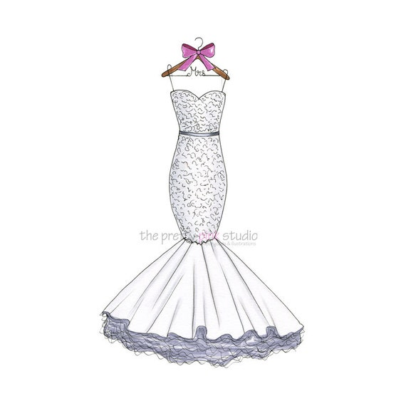 Drawings of wedding dresses images for How to draw a wedding dress