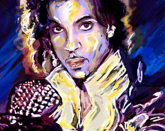 Prince Painting, Prince Art Print, Prince Original Print