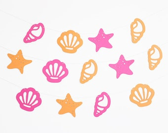 Seashell Party Banner - Customizable Colors