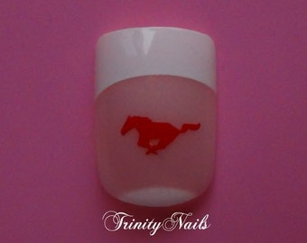 Mustang Horse Nail Art Decals Set of 20 Vinyl Stickers Applique Manicure Pedicure Party Gift Stocking Stuffers