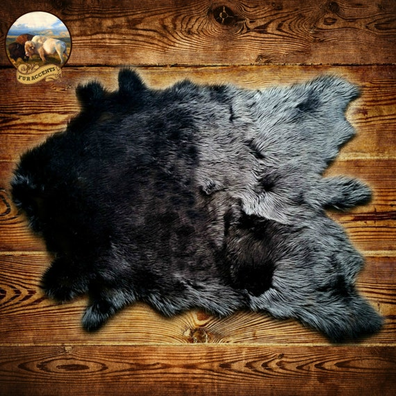 Classic Faux Fur Deer Skin Pelt Rug Buffalo Hide Area Carpet