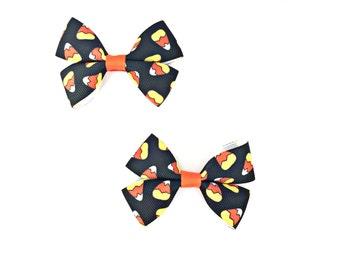 Candy Corn Bows, Candy Corn Hairbow, Candy Corn Hair Bow, Candy Corn Hair Clip, Candy Corn Clips, Halloween Hairbows, Halloween Hair Bow