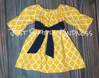 Girls Fall Outfit, Girls Fall Dress, Girls Yellow Dress, Girls Dresses, Baby Dress, Toddler Dress, Baby Girls Dress, Fall Dress, Fall Outfit