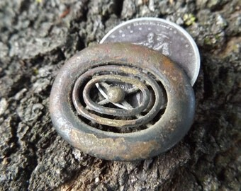 Rare Civil War Union / Confederate Jewelry - Authentic, Antebellum Era Brooch Pin - Dug in Bermuda Hundred, VA - 1-of-a-kind gift! Victorian