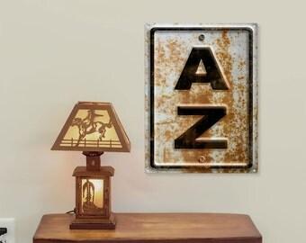 Arizona AZ State Highway Style Rusted Metal Sign - #53207