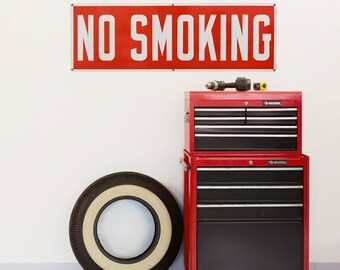 No Smoking Commercial Message Wall Decal - #53877