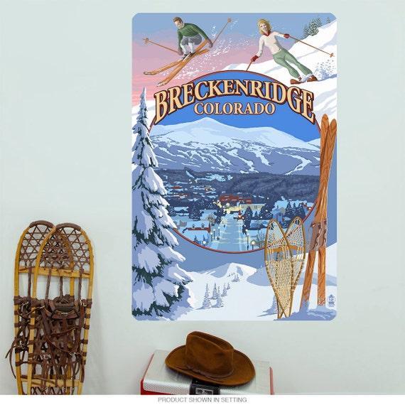 Breckenridge Colorado Ski Town Wall Decal 60868