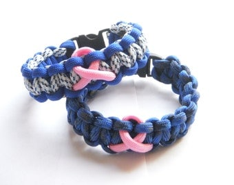 breast cancer awareness paracord bracelets