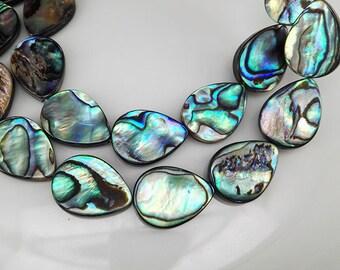 22 pcs 18x13mm Abalone Shell Flat Teardrop Beads Abalone Tear Drop Beads