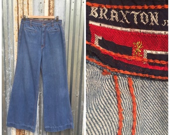 1970s Braxton High Waisted Bell Bottom Jeans Size 29