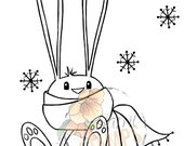 "Digital Stamp ""Chilly Bunny"""