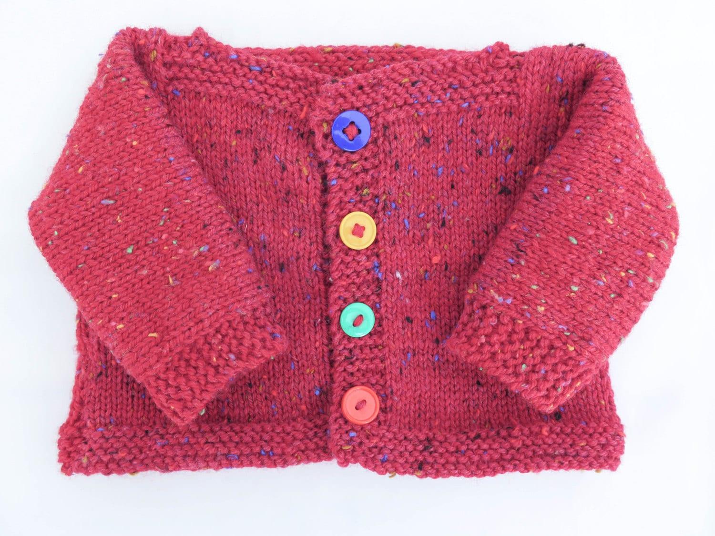 FREE KNITTING PATTERN Easy Baby Sweater Simply Splendid