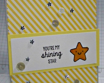 You're My Shining Star... Greeting  Card...
