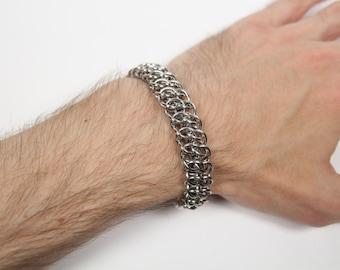 GSG Bracelet, Chainmaille Bracelet, Stainless Steel, Chainmail Bracelet, Chain Maille, Chain Mail, Mens Bracelet, Handmade, Mens Jewelry