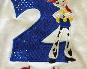 Jessie Personalized Shirt, Jessie Toy Story, Toy Story embroidered shirt, Birthday shirt