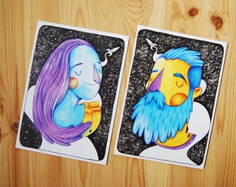 "2 prints ""Escapistas"""