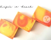 LIFE'S A PEACH Handmade Soap, With Cocoa Butter and Oatmeal, Vegan, Natural, Summer Gift for Her, Him, Teens, Friends, Family, Wife