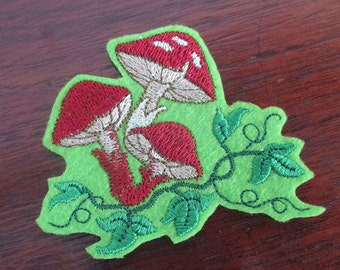 Toadstools iron on patches