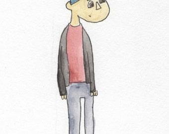 Sean Watercolor Illustration