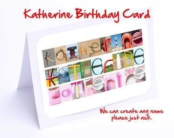 Katherine Personalised Birthday Card