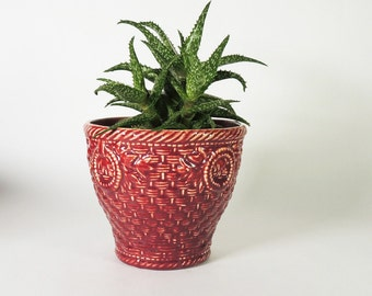 McCoy Basketweave Planter Vintage 1940's