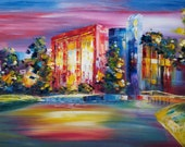 """Goldy Young -University Of North FLORIDA, JACKSONVILLE FL 24""""x 36"""""""