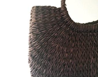 Boho-Vintage Straw Handbag