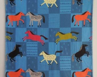 Happy Horses baby fleece blanket