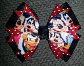 Mickey Minnie Donald Duck Goofy Pluto Handmade Boutique Bow