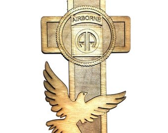 82ND Airborne Cross 7""