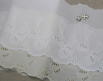 "1yard Broderie Anglaise Eyelet Cotton lace trim 5.1""(13cm) YH830 laceking2013"