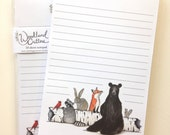 Woodland Critters 50 page notepad to do list