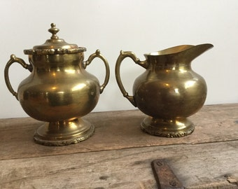 Vintage Sugar and Creamer Set Mexico