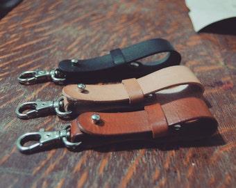 Key Lanyard CLINT | Leather Key Lanyard | Leather Key fob | Leather Keyring | Leather Keychain | Minimalistic Keyfob | Cowboy Keychain | Key