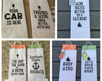 FUN AND FESTIVE wine bags