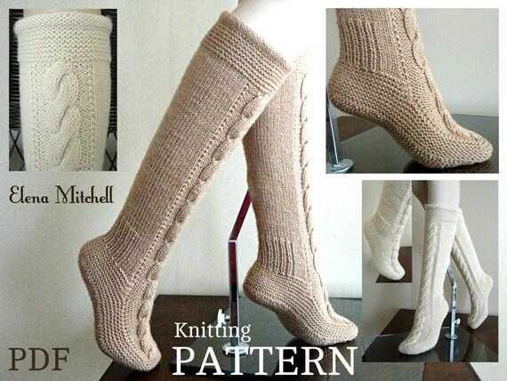 Knitting Pattern Women s Socks : Knitting PATTERN Women Booties Adults Socks Leg Warmers
