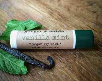 Vanilla Mint Lip Balm - Vanilla Mint - Lip Balm - Vanilla - Mint - Vegan Lip Balm - Beeswax Lip Balm