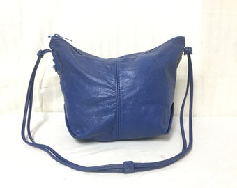 Free Ship, Blue Leather bag, Shoulder Bag, Purse,bag