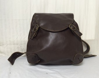 Backpack bag,brown backpack, faux leather, back pack