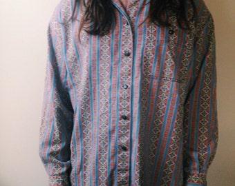 Men's Vintage 70s Button Up