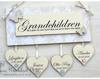 Personalised Grandchildren Wall Plaque