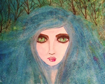 Forest Fairy Watercolor Art Print